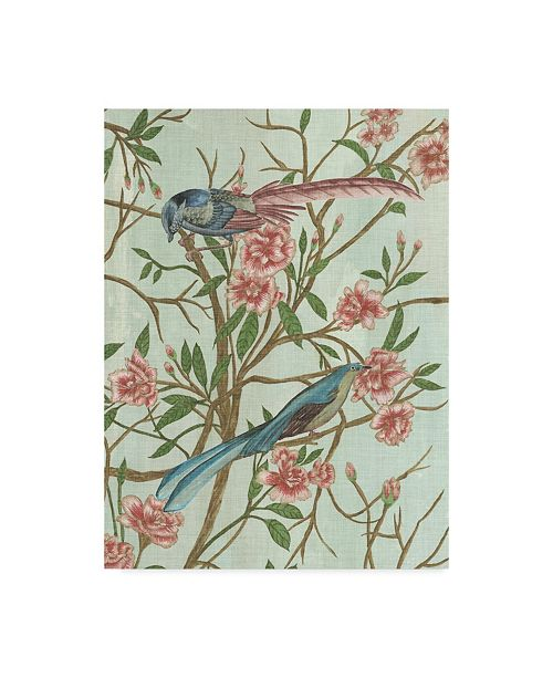 "Trademark Global Melissa Wang Delicate Chinoiserie IV Canvas Art - 20"" x 25"""