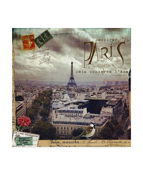 "Trademark Global Sandy Lloyd Eiffel Romance I Canvas Art - 27"" x 33"""