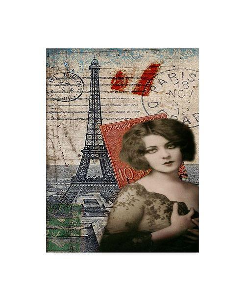 """Trademark Global Sandy Lloyd Femme Paris IV Canvas Art - 37"""" x 49"""""""