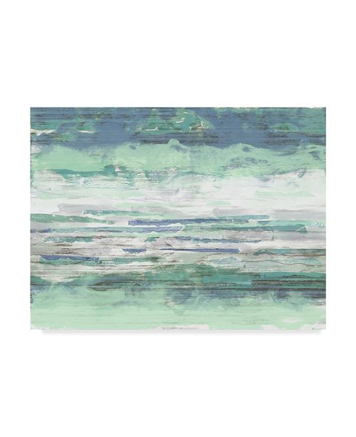 "Trademark Global Jennifer Goldberger Seascape Striations I Canvas Art - 37"" x 49"""