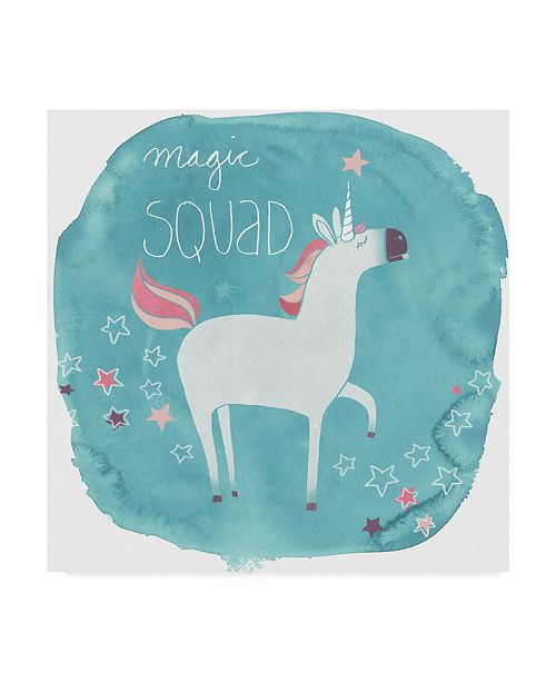 "Trademark Global June Erica Vess Magic Unicorn Squad III Canvas Art - 15"" x 20"""