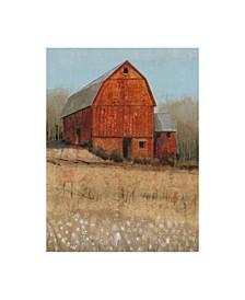 "Tim Otoole Red Barn View I Canvas Art - 37"" x 49"""