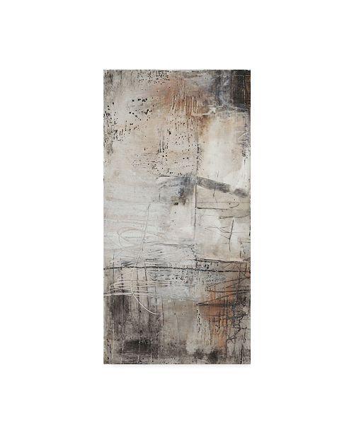 "Trademark Global Jennifer Goldberger Black, White and Bronze I Canvas Art - 37"" x 49"""