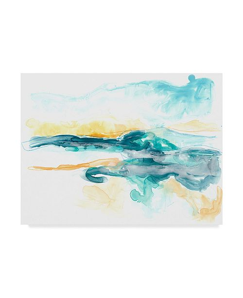 "Trademark Global June Erica Vess Liquid Lakebed I Canvas Art - 20"" x 25"""