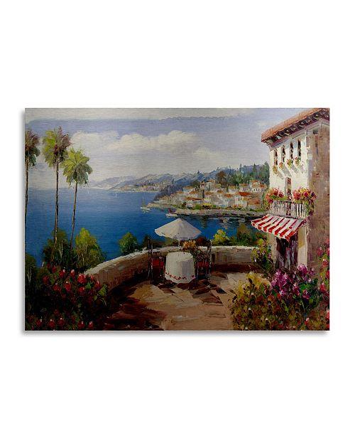 "Trademark Global Masters Fine Art Italian Afternoon Floating Brushed Aluminum Art - 22"" x 25"""