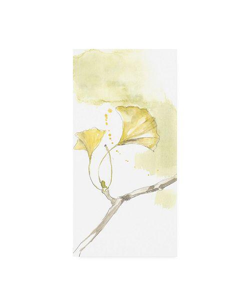 "Trademark Global Jennifer Goldberger Ginkgo Triptych I Canvas Art - 37"" x 49"""