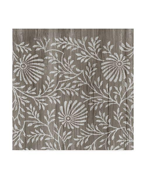 "Trademark Global June Erica Vess Weathered Wood Patterns VII Canvas Art - 27"" x 33"""