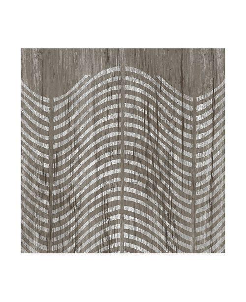 "Trademark Global June Erica Vess Weathered Wood Patterns X Canvas Art - 15"" x 20"""