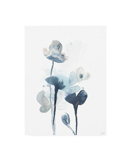 "Trademark Global June Erica Vess Midnight Blossoms IV Canvas Art - 37"" x 49"""
