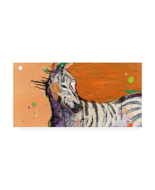 "Trademark Global Kellie Day Zebra Orange Canvas Art - 37"" x 49"""
