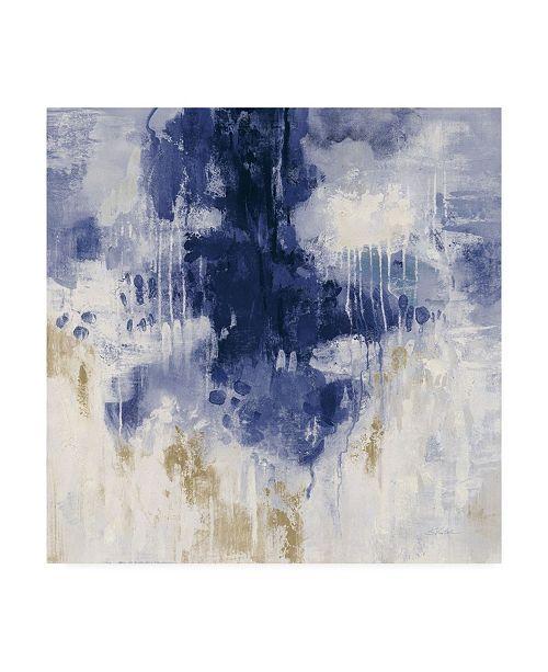 "Trademark Global Silvia Vassileva Indigo Rain Canvas Art - 27"" x 33"""