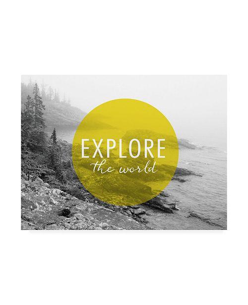 "Trademark Global Laura Marshall Explore the World V2 Canvas Art - 20"" x 25"""
