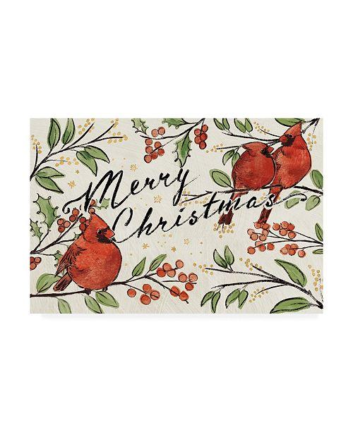 """Trademark Global Janelle Penner Christmas Lovebirds VIII Canvas Art - 37"""" x 49"""""""