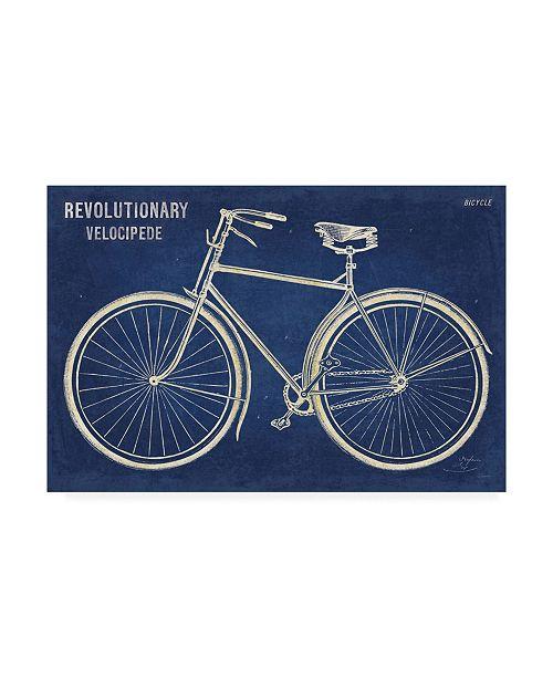 "Trademark Global Sue Schlabach Blueprint Bicycle Canvas Art - 20"" x 25"""