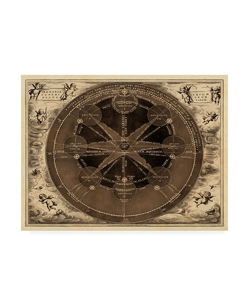"Trademark Global Vision Studio Sepia Planetary Chart Canvas Art - 37"" x 49"""
