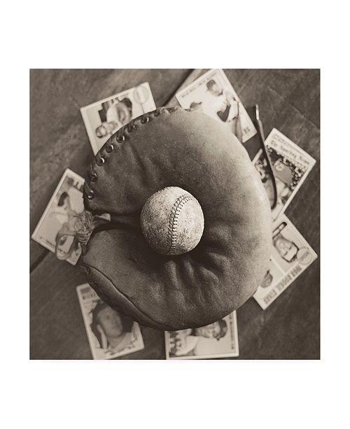 "Trademark Global Judy B. Messer Baseball Nostalgia III Canvas Art - 27"" x 33"""