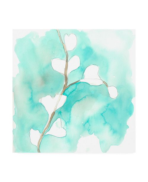 "Trademark Global June Erica Vess Teal and Ochre Ginko VII Canvas Art - 15"" x 20"""