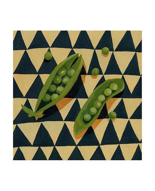 "Trademark Global Emma Scarvey Geo Veggies IV Canvas Art - 15"" x 20"""