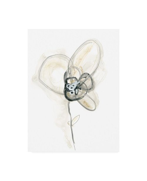 "Trademark Global June Erica Vess Monochrome Floral Study I Canvas Art - 15"" x 20"""