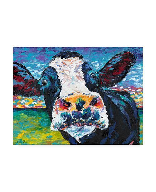 "Trademark Global Carolee Vitaletti Curious Cow II Canvas Art - 20"" x 25"""