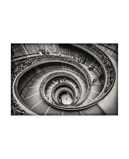 """Trademark Global Renate Reichert Staircase Spiral Canvas Art - 37"""" x 49"""""""