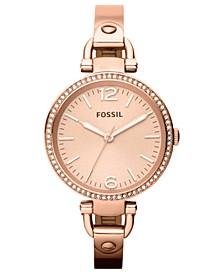 Women's Georgia Rose Gold-Tone Bangle Watch