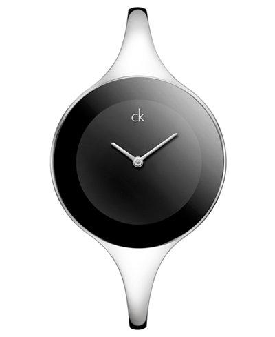 Calvin Klein Watch, Women's Swiss Mirror Stainless Steel Bangle Bracelet 34mm K2823130
