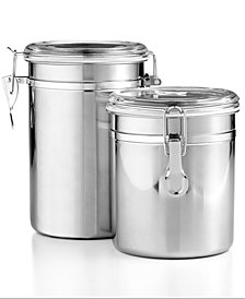 Martha Stewart Essentials Set of 2 Food Storage Canisters, Created for Macy's