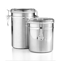Deals on Martha Stewart Essentials Set of 2 Food Storage Canisters