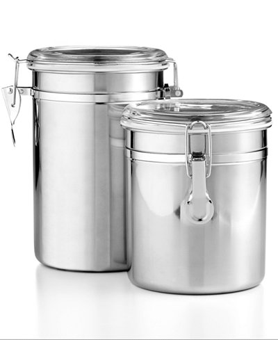Martha Stewart Essentials Set of 2 Food Storage Canisters, Created ...