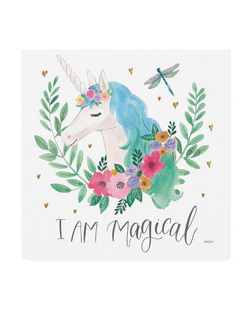 "Trademark Global Jenaya Jackson Magical Friends IV Dragonfly Canvas Art - 36.5"" x 48"""