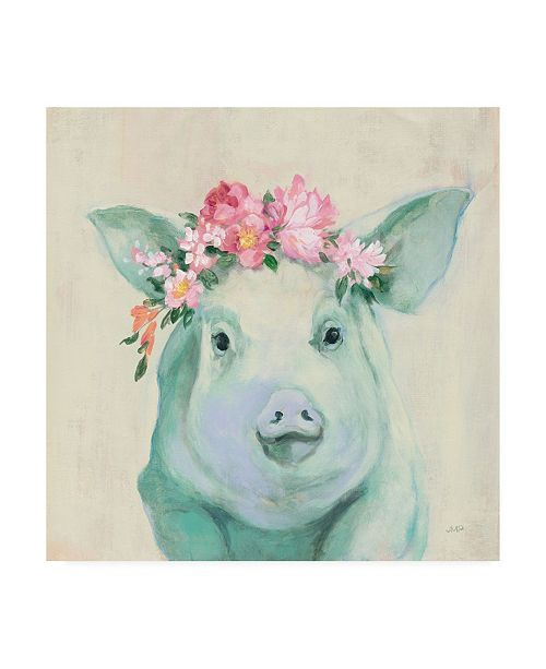 "Trademark Global Julia Purinton Festival Girl IV Canvas Art - 36.5"" x 48"""