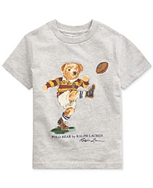Toddler Boys Rugby Bear Jersey Cotton T-Shirt