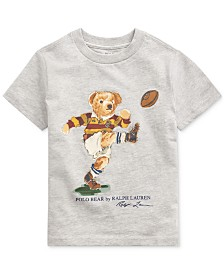 Polo Ralph Lauren Toddler Boys Rugby Bear Jersey Cotton T-Shirt