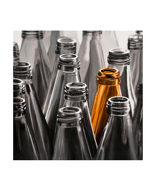 "Trademark Global Roderick Stevens One Orange Bottle Canvas Art - 15.5"" x 21"""