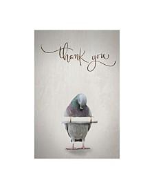 "TypeLike Thank you Blue Bird Canvas Art - 36.5"" x 48"""