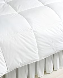 Lightweight Down Alternative Full/Queen Comforter, Lite Loft Polyester Fill, 100% Cotton Cover