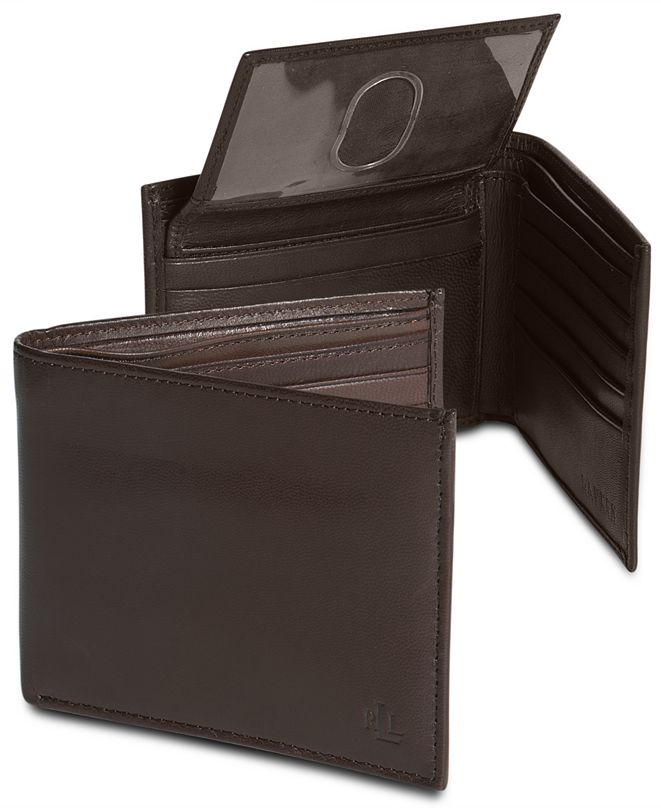 Lauren Ralph Lauren Lauren by Ralph Lauren Burnished Leather Bifold Wallet