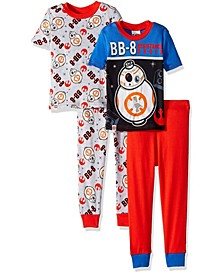 Lego Star Wars Little and Big Boys 4 Piece Pajama Set