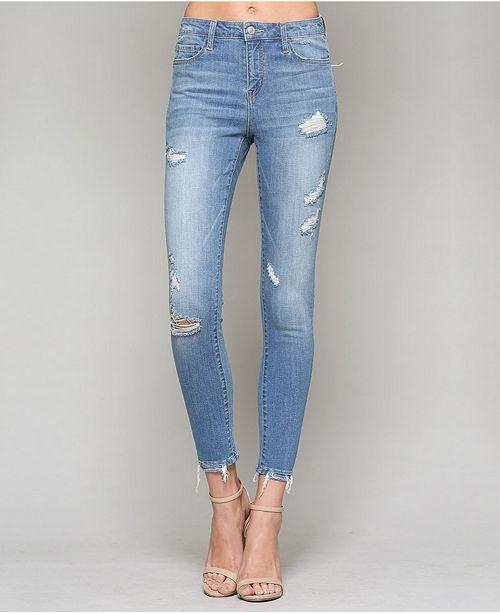 d7e41018d6d4ce VERVET High Rise Distressed Crop Skinny Jeans & Reviews - Jeans ...