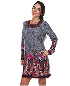 Women's Sandrine Embroidered Sweater Dress