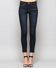 Mid Rise Super Soft Dark Ankle Skinny Jeans