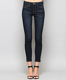 Vervet Mid Rise Super Soft Dark Ankle Skinny Jeans