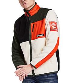 Men's Sherpa Fleece Colorblock Jacket