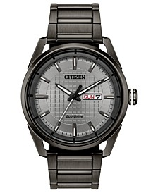 Drive From Eco-Drive Men's Gray Stainless Steel Bracelet Watch 42mm