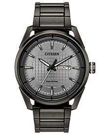 Drive From Citizen Eco-Drive Men's Gray Stainless Steel Bracelet Watch 42mm