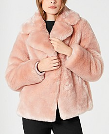 Cropped Faux-Fur Coat
