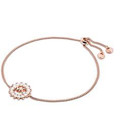 Crystal Logo Slider Bracelet