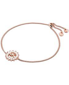 Michael Kors Crystal Logo Slider Bracelet
