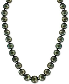 "EFFY® Cultured Black Tahitian Pearl (10mm) 18"" Collar Necklace"